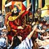 composition–Judgment of Solomon–oil on canvas120x100cm.-2008. Original