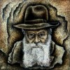 –The Lubavitcher Rebbe–acrylic on canvas 70×70 cm.