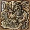 –The shoemaker–acrylic on canvas 70×70 cm.
