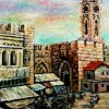 –The old Jerusalem–oil on canvas70x60cm.-2001