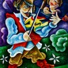 –Violin serenade–oil on canvas80x60cm. Original