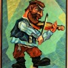 –Violinist–mixed technics on canvas60x50cm.