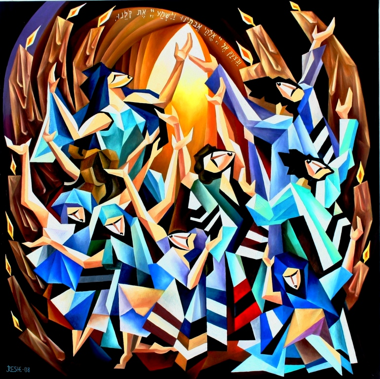 composition--The prayer from the Passover--oil on canvas80x80cm.-2008