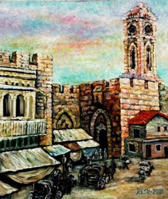 --The old Jerusalem--oil on canvas70x60cm.-2001
