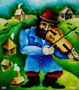--The violinist--oil on canvas62x54cm. Original