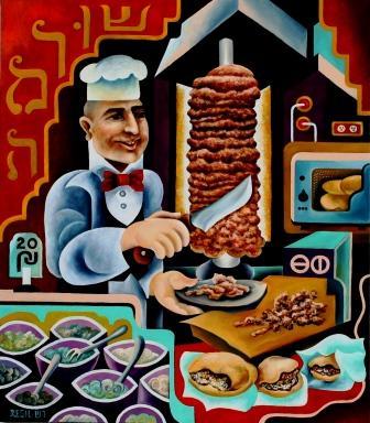 composition--Judaica#38--oil on canvas80x70cm. Original